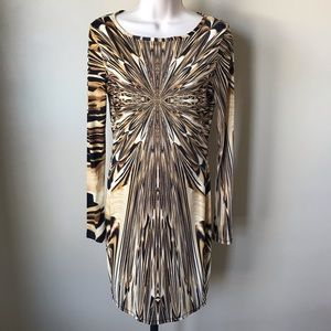 TopShop Fitted Long Sleeve Dress